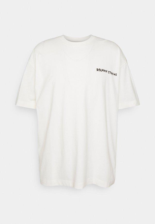 OVERSIZED UNISEX  - T-shirt print - whisper white