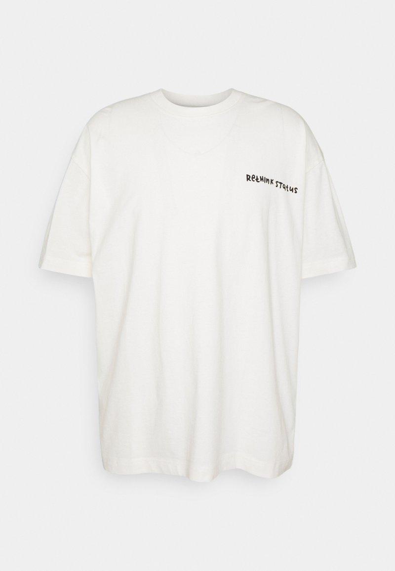 RETHINK Status - OVERSIZED UNISEX  - Print T-shirt - whisper white
