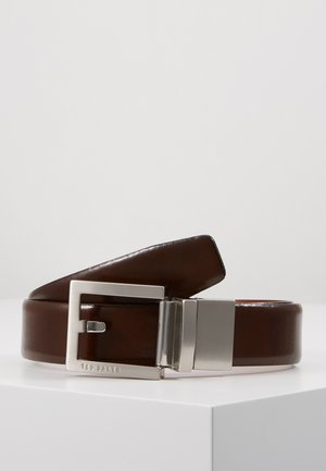 BROSNEN XOOM REVERSIBLE FIXED PRONG BELT - Pásek - xchocolate