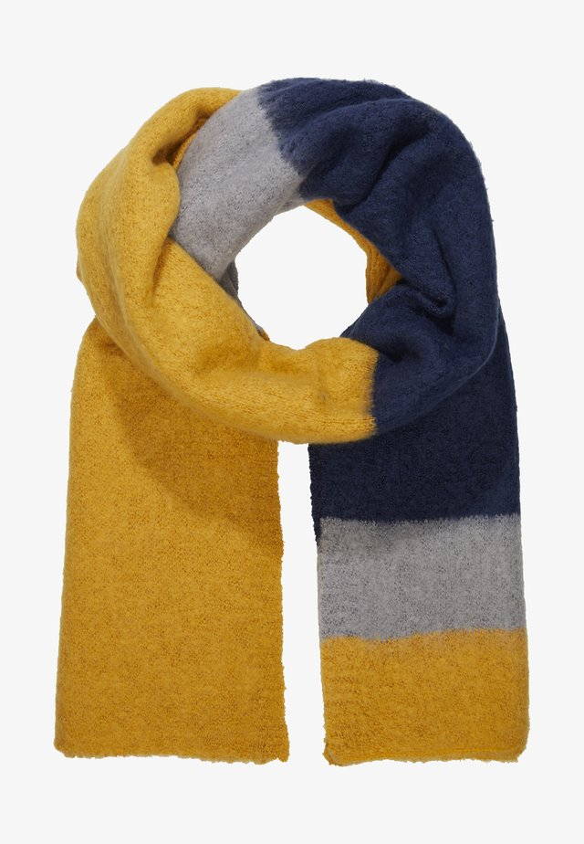 ONLLIMA BLOCK SCARF  - Szal - golden yellow/night sky