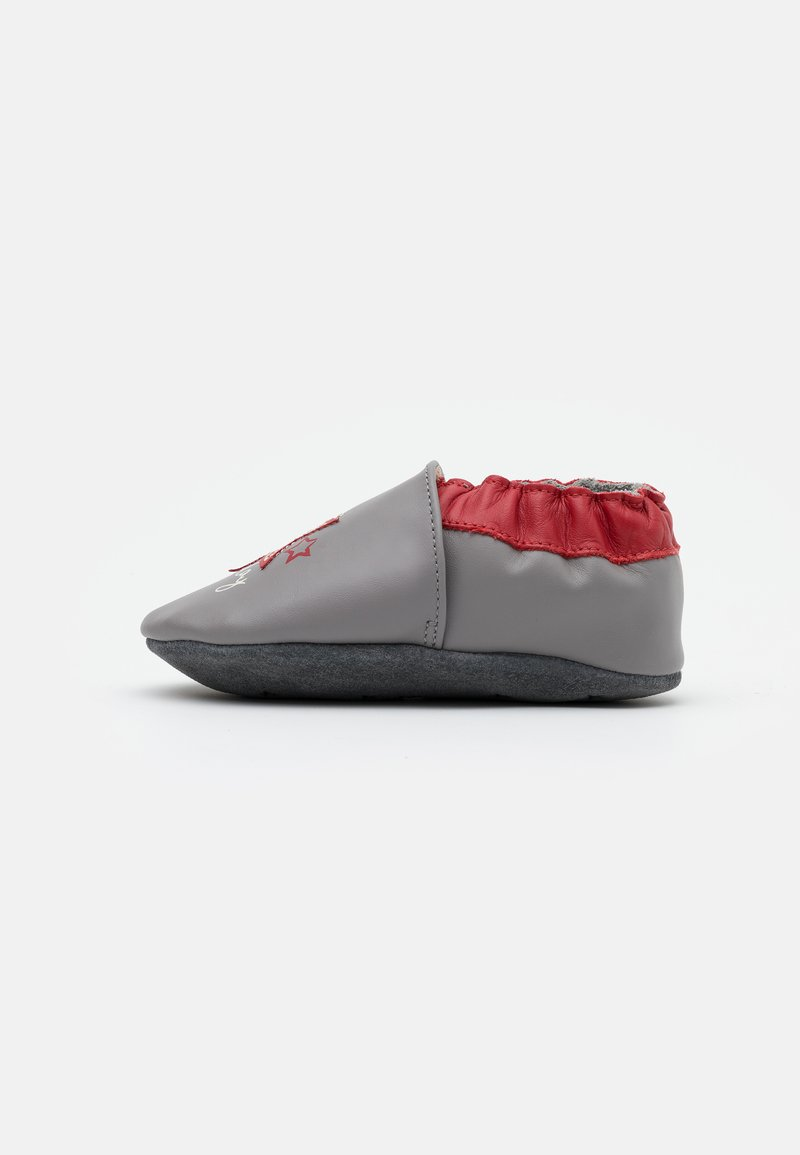 Robeez - MUSIC PLAY - First shoes - gris/rouge