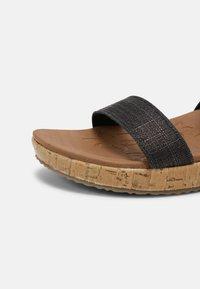 Skechers - BRIE - Platform sandals - black sparkle - 5