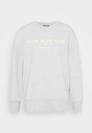 BLAH PRINTED - Mikina - light grey melange
