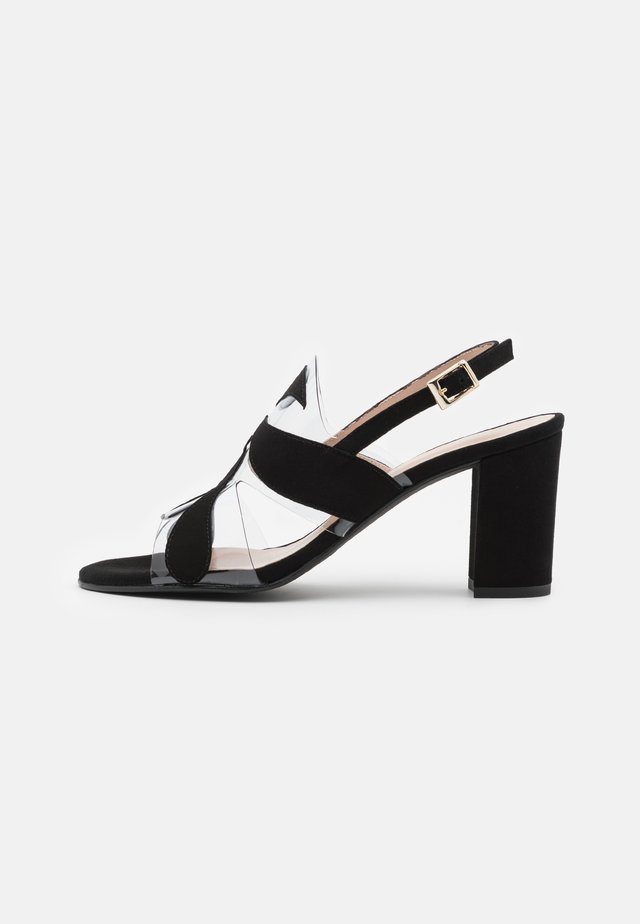 PORTU - Sandaalit nilkkaremmillä - black