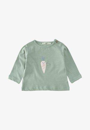 Long sleeved top - metallic green