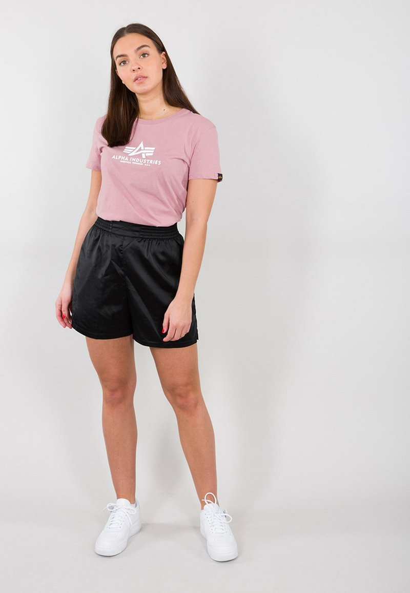 Alpha Industries - NEW BASIC - Print T-shirt - silver pink