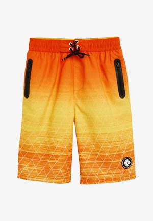 BLACK GEO SWIM BOARD SHORTS (3-16YRS) - Swimming shorts - orange
