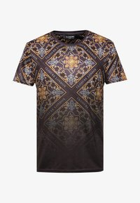 CLOSURE London - BAROQUE TILE PRINT FADE TEE - Print T-shirt - black - 4