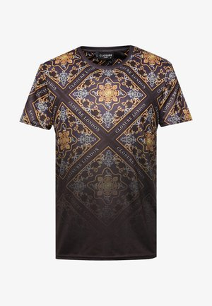 BAROQUE TILE PRINT FADE TEE - Print T-shirt - black