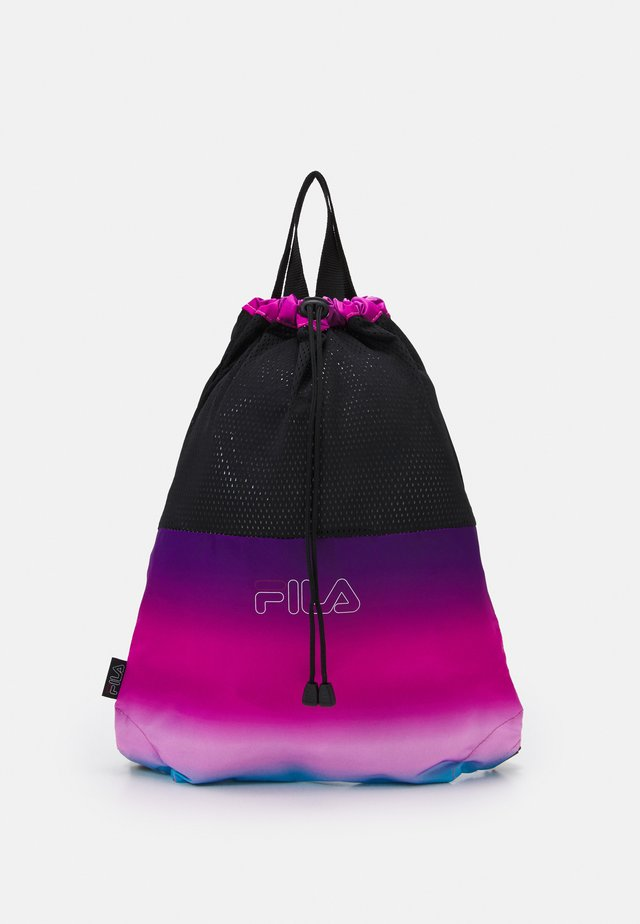 DRAWSTRING BACKPACK UNISEX - Ryggsäck - black/purple