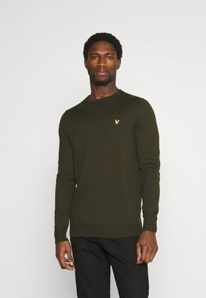 Crew Neck Jumper - Stickad tröja - trek green