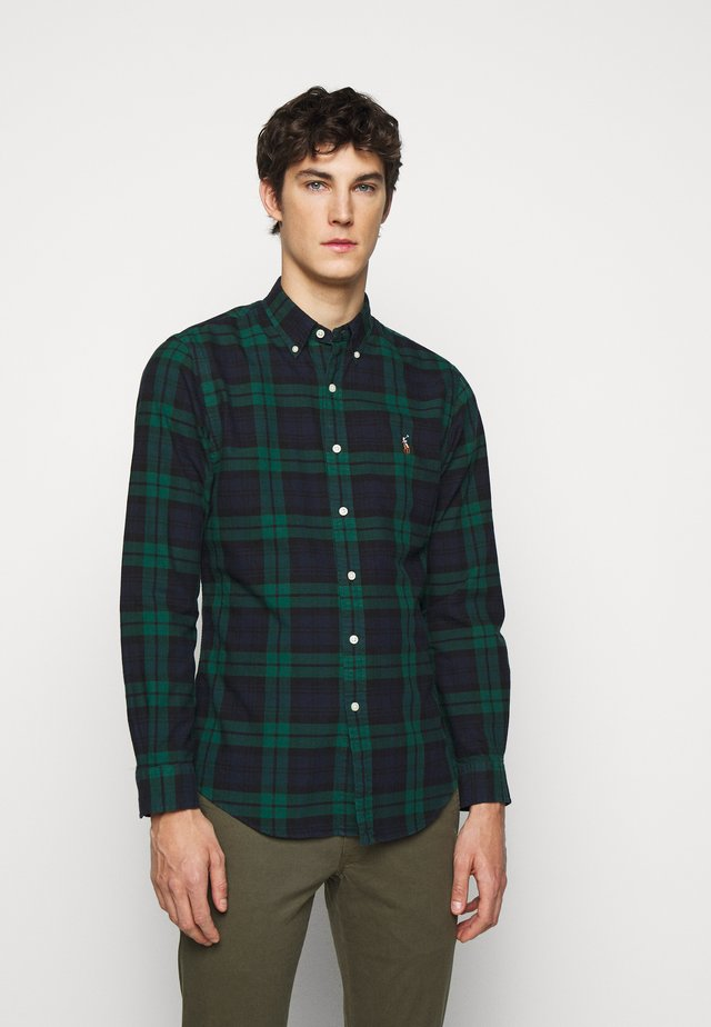 OXFORD - Camicia - green/navy