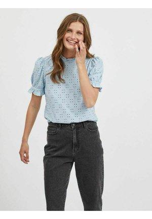 MIT KURZEN ÄRMELN  - Blouse - cashmere blue
