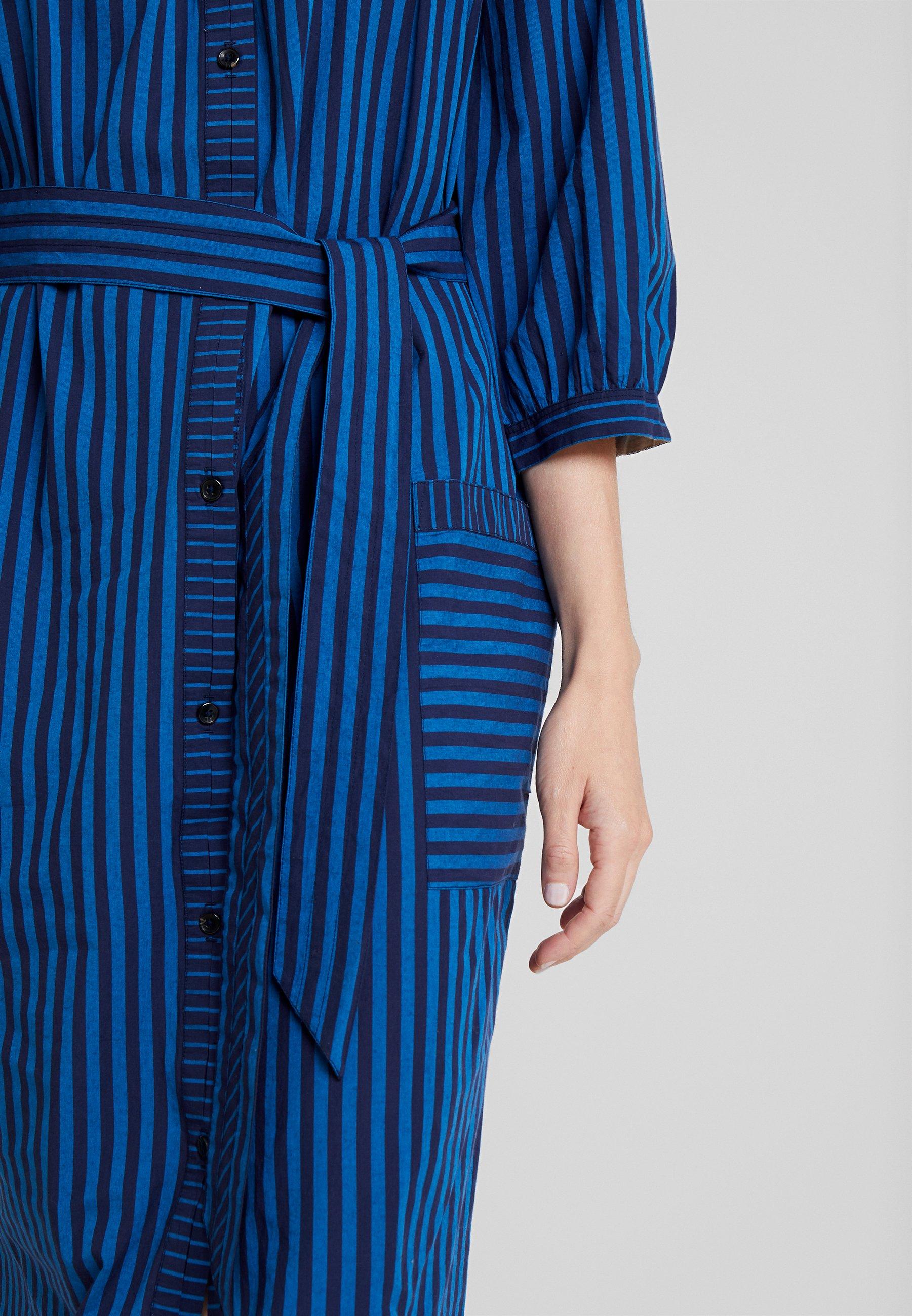 Noa Noa STRIPE MIX Blusenkleid art blue/blau