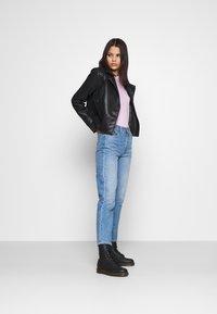 Pepe Jeans - FLORES - Faux leather jacket - black - 1