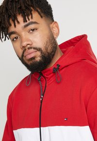 Tommy Hilfiger - COLORBLOCKD HOODED ZIP - Sudadera con cremallera - red - 5