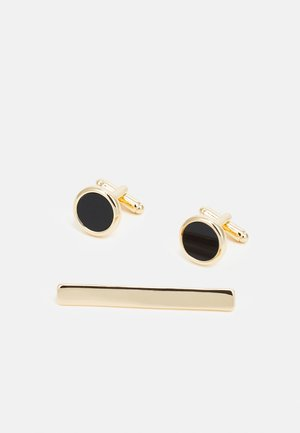CIRCLE CUFFLNIK SET - Gemelos - gold-coloured/black