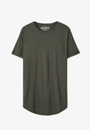 MIT LANGER PASSFORM - Basic T-shirt - dark green