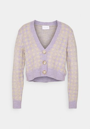 VICHEKINA CARDIGAN - Cardigan - natural melange/lavender