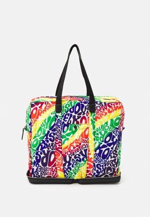 PRIDE PACKABLE TOTE UNISEX - Tote bag - black/rainbow
