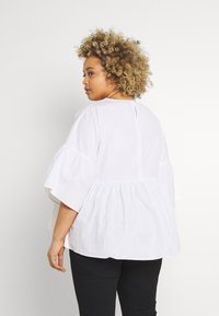 Simply Be - SLEEVE SMOCK - Camicetta - white - 2