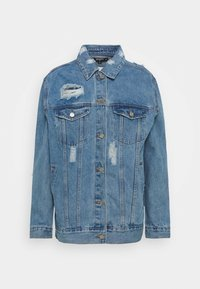 DISTRESSED BOYFRIEND JACKET - Giacca di jeans - blue