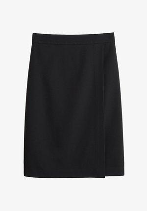 BOREAL - Wrap skirt - schwarz