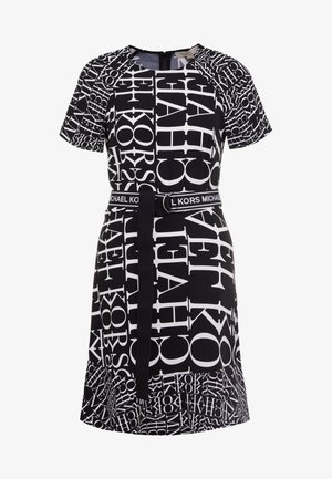 RAGLAN DRESS - Korte jurk - black/white