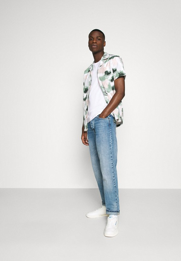 Burton Menswear London SHORT SLEEVE CREW 7 PACK - T-shirt basic - black/czarny Odzież Męska FXIE