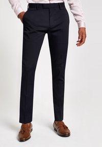 River Island - Trousers - navy - 0