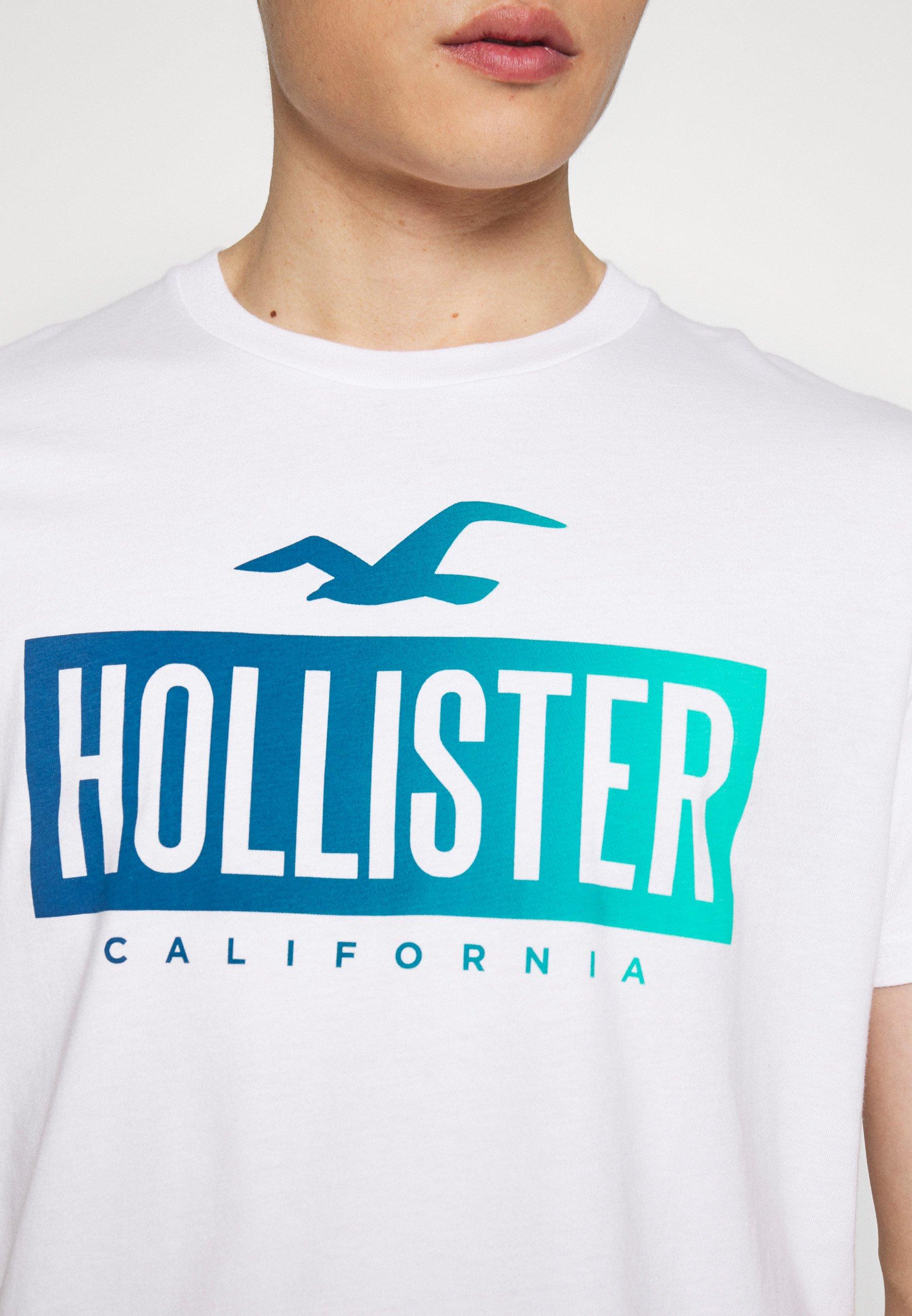 Hollister Co. PRINT LOGO - T-shirts med print - white