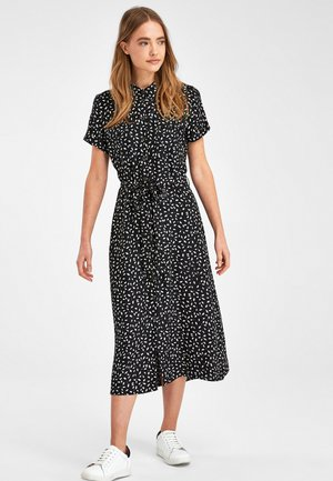MONOCHROME PRINT  - Shirt dress - black