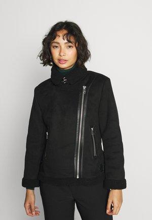 ONLDIANA BONDED AVIATOR JACKET - Winter jacket - black