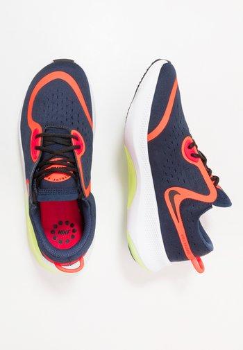 JOYRIDE DUAL RUN - Neutral running shoes - midnight navy/black/hyper crimson/laser crimson/barely volt/diffused blue