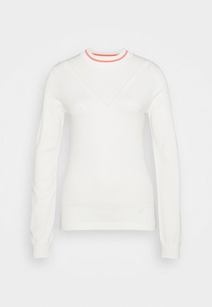 VILA GOLF - Strickpullover - white
