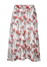 Alba Moda - A-line skirt - weiß,rot - 4