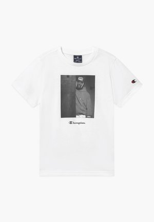 CHAMPION X ZALANDO GRAPHIC - T-shirt z nadrukiem - white
