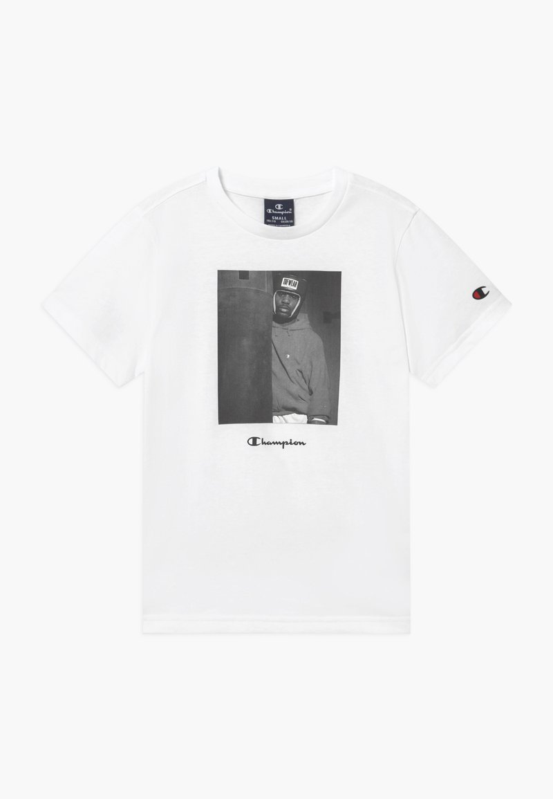 Champion - CHAMPION X ZALANDO GRAPHIC - Camiseta estampada - white