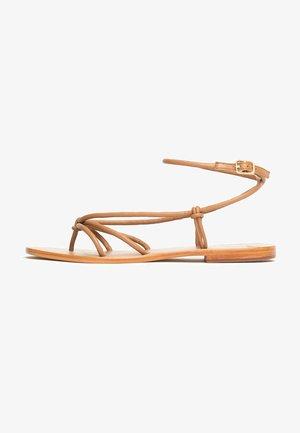 NAYA  - T-bar sandals - tan