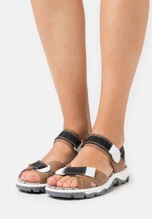 Sandály - schwarz/weiß