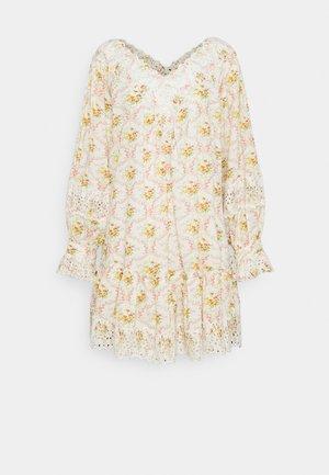 SLUB V NECK MINI DRESS - Day dress - wallpaper
