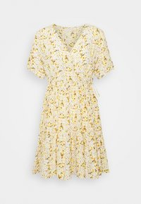 Pieces Petite - PCSUNNY WRAP DRESS - Vardagsklänning - popcorn - 0