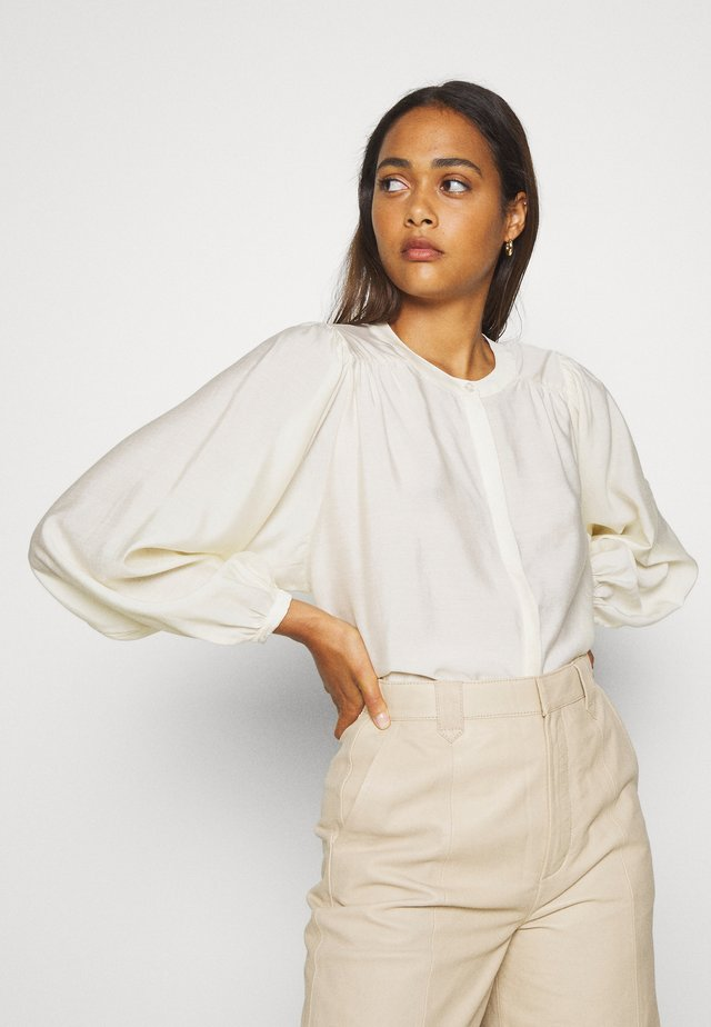 JAMIRA BLOUSE - Button-down blouse - weiß
