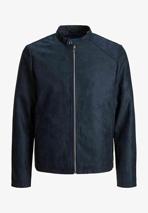 Faux leather jacket - dark navy