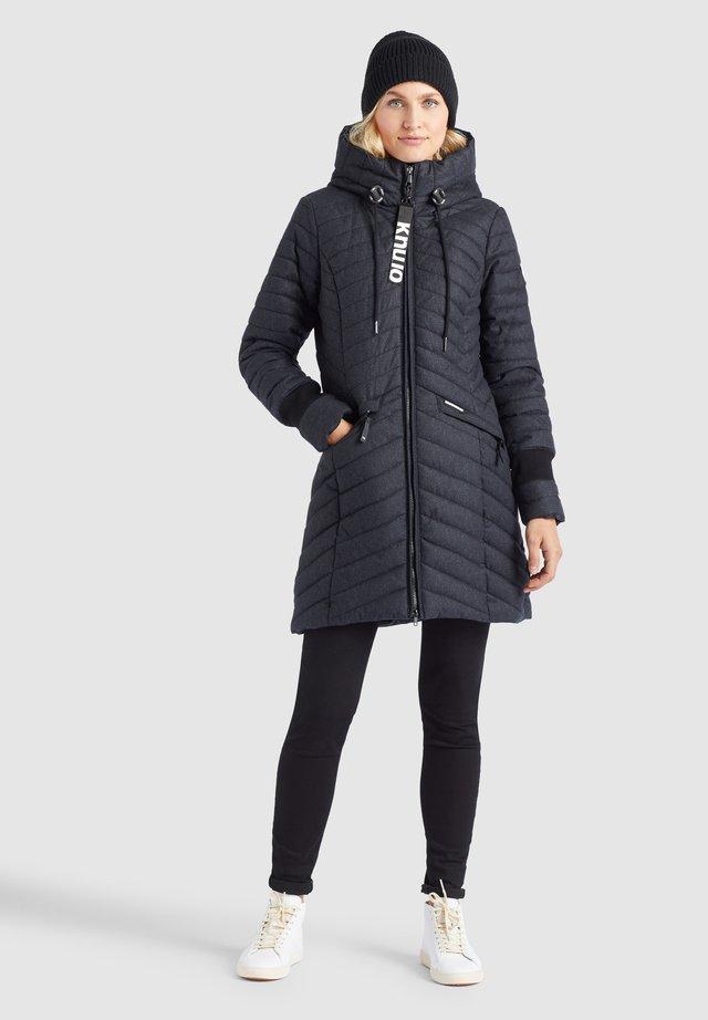 Winterjas - schwarz-weiß meliert