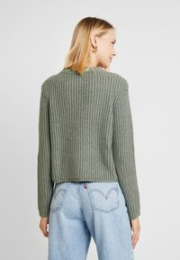 ONLY - ONLFIONA - Jumper - balsam green/white melange - 2