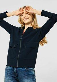 Cecil - Zip-up sweatshirt - blau - 0