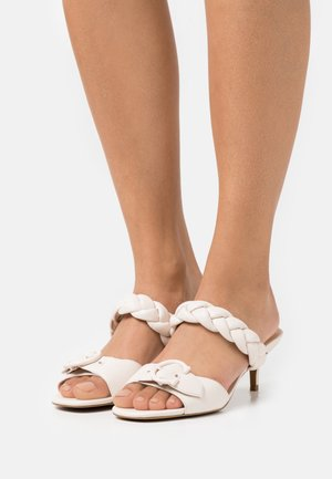 MOLLIE  - Heeled mules - chalk