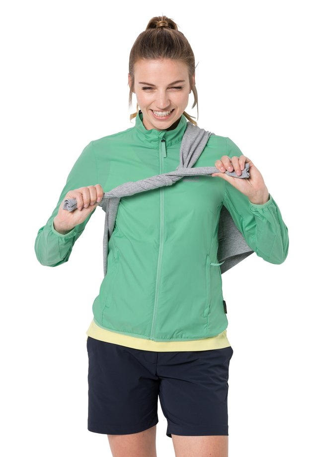 Soft shell jacket - pacific green