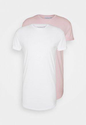Basic T-shirt - white/pink